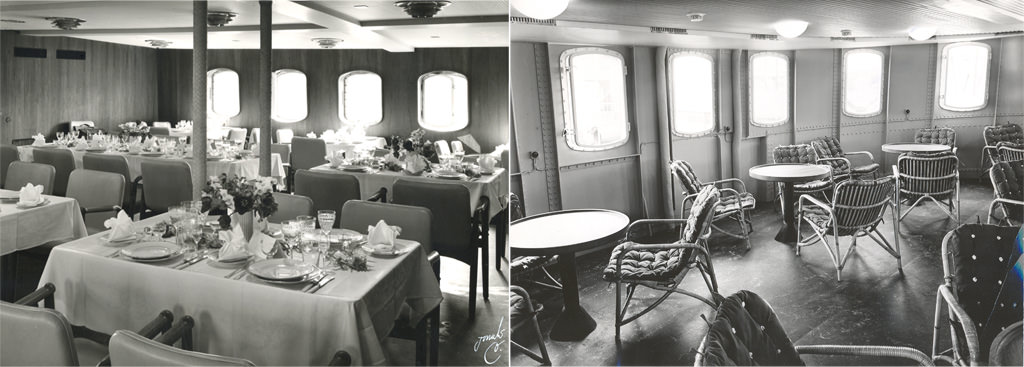Interiør om bord på Østersøen
