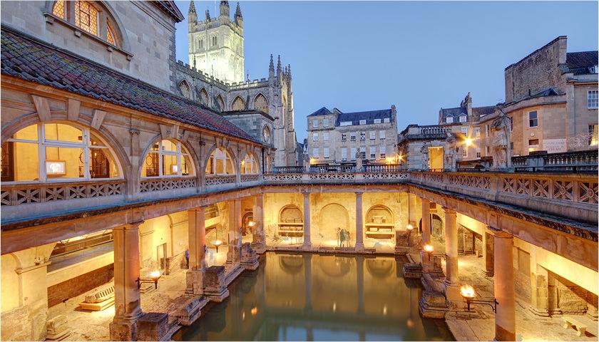 De berømte romerske bade i byen Bath