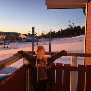 Victor på balkonen
