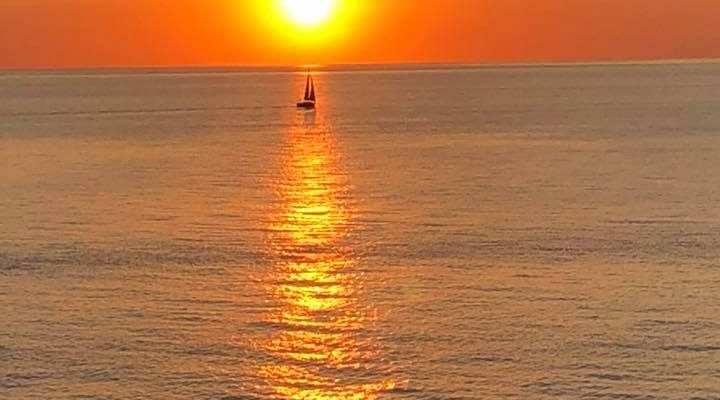 Solnedgang over Anholt