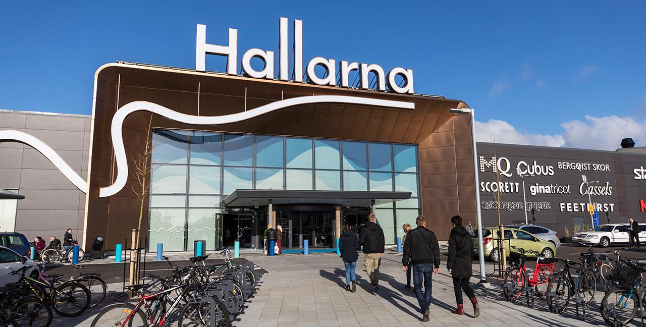 Shopping i Hallarna i Halmstad